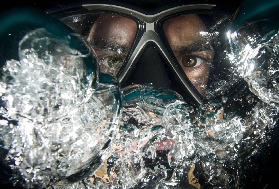 Masque de plongée à la vue